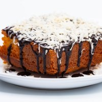 Easy coconutty yellow cake